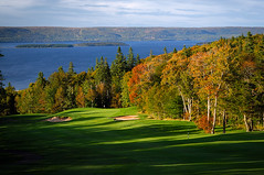 Dundee 8th Hole (gallow_chris) Tags: travel trees sky canada game green leaves sport ball landscape scenery novascotia play lobster capebreton maritimes chrisgallow chrisgallow dundeegolfcourse capebretonresorts
