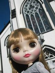 Christina at St. John's Church, Lunenburg