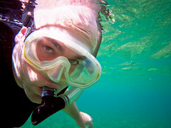 Snorkeling Self Portrait (joel8x) Tags: travel cruise carnival vacation underwater pentax bahamas freeport paradisecove deadmansreef optiow80