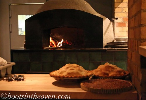 Pies and a woodburning oven