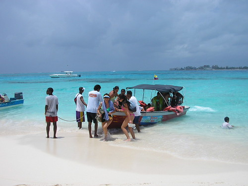 Boat in San Andres- Colombia