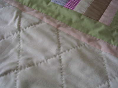 baby quilt hand quilted