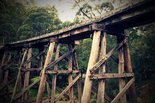 trestle bridge at Selby
