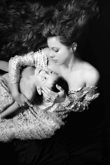 mother and child (Daneli) Tags: portrait blackandwhite selfportrait art me topv111 manipulated florida madonna mason dramatic dana fantasy myson drama motherandchild pieta verobeach artisic 1of3 123bandw daneli