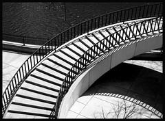 curves (eYe_image) Tags: shadow blackandwhite chicago abstract stair blueribbonwinner