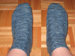 Completed Saphira Socks - Top