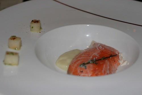 Yukon salmon, cauliflower, asian pear