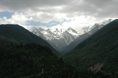 High Caucasus Mountains in Svaneti, Georgia