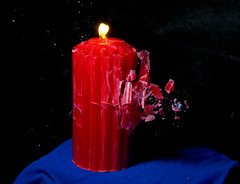 Candle 1 (nebarnix) Tags: fire 22 candle flame guns bullets highspeed