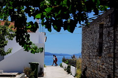 Mediterraneo (-- blue in green --) Tags: sea summer port mediterraneo aegean greece volos pilio pelio gatzea