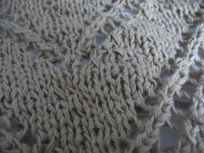 mystery knit closeup