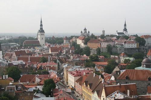 over Tallinn old town