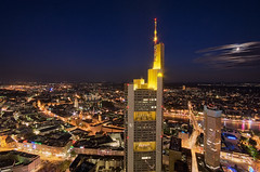 At Night II (Philipp Klinger Photography) Tags: city blue sky clouds skyscraper germany deutschland cityscape colours hessen nightshot dom frankfurt main commerzbank rmer hesse maintower ezb instantfave dcdead