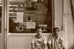 cafe nur - ISMIR (i r i d a) Tags: sepia turkey cafe nur ismir