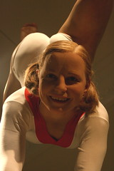 Gymnast (triplej*) Tags: uk london smile famous gymnast leotard madametussauds waxworks olympicchampion