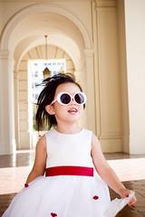 family portrait sunglasses toddler flowergirl venise