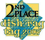 2nd Place Dish Rag Tag