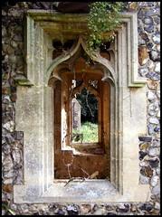 porch windows (Simon_K) Tags: church norfolk churches eastanglia burlingham norfolkchurches 070908 northburlingham burlinghamstpeter bikerideday2007 wwwnorfolkchurchescouk