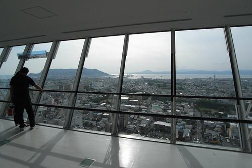 五稜郭タワーより函館市内