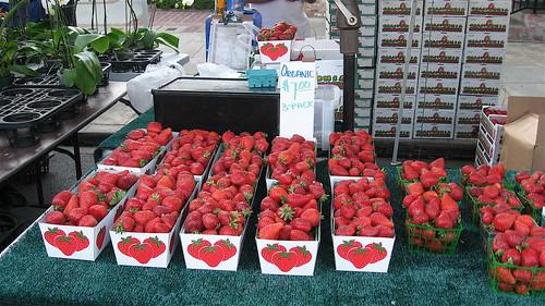 Organic strawberries.