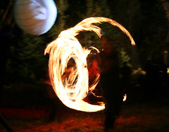 fun with fire (scienceduck) Tags: 15fav ontario canada public fire harvest september poi 2007 firetwirling harvestfestival autumnequinox scienceduck almaguinhighlands midlothianridge