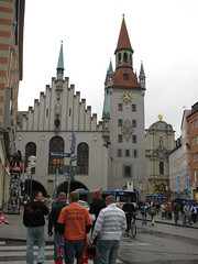 Clock tower at Marienplatz