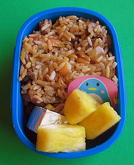 Mixed rice lunch for preschooler