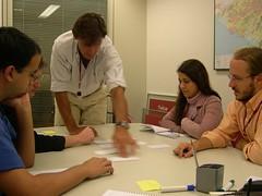 Ricardo (cliente) priorizando histórias na iteração.