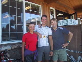 Markus Heidi and Reed Finlay at Flagg Ranch