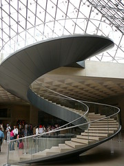 Staircase, Musée Louvre - by the noggin_nogged