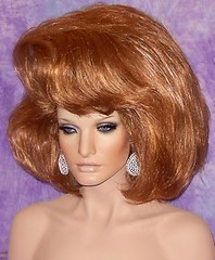 Gorgeous Ginger Bouffant 2 (mgwigs4u) Tags: drag tranny dragqueen crossdresser transsexual dragqueenwigs