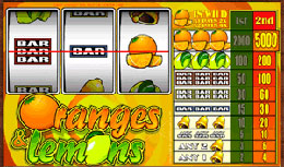 Oranges and Lemons Flash Video Slot