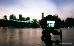 New York through the eyes of my Nikon (Rafakoy) Tags: camera new york city bridge bw ny newyork film water skyline brooklyn night analog digital 35mm river lights photo cityscape fuji bokeh dusk nikonf100 velvia cameras epson 100 v600 velvia100 nikkor fujichrome perfection realphotograph fujichromevelvia100 nikond90 nikonaf2880mmf3356g epsonv600 epsonperfectionv600 aldorafaelaltamirano rafaelaltamirano aldoraltamirano