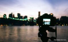 New York through the eyes of my Nikon (Rafakoy) Tags: camera new york city bridge bw ny newyork film water skyline brooklyn night analog digital 35mm river lights photo cityscape fuji bokeh dusk nikonf100 velvia cameras epson 100 v600 velvia100 nikkor fujichrome perfection realphotograph fujichromevelvia100 nikond90 nikonaf2880mmf3356g epsonv600 epsonperfectionv600 aldorafaelaltamirano rafaelaltamirano aldoraltamirano