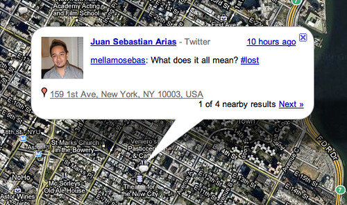 Location Based Twitter on Google Buzz