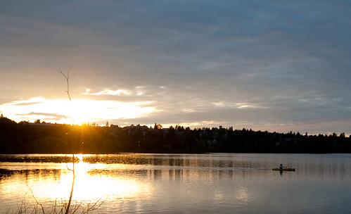 Sunset over Green Lake