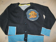 Monkey vest for Enzo (A little bit of stitchin') Tags: satinstitch crewelembroidery longandshortstitch dmcthread