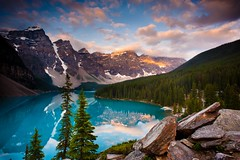 """Moraine Lake"" Photography ~ Private Photo Workshop ~ Landscape ~ Canada (Dan Ballard Photography) Tags: pictures travel light sunset wild summer vacation sky favorite mountain lake canada mountains reflection tree art"