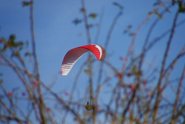 Paraglinding flight