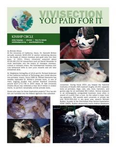 Kinship Circle - Factsheet - Vivisection - you paid for it