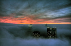 nebel (andi_apple) Tags: city sunset fog night skyscraper germany deutschland sonnenuntergang nebel nightshot frankfurt stadt coolest hochhaus wolkenkratzer banken peopleschoice supershot challengeyouwinner photology platinumphoto aplusphoto megashot ysplix trabajarconphotoshop platinumheartaward allnicethink mygearandmepremium