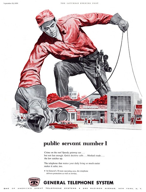 General Telephone System ad «Public servant number 1» by Dom Lupo
