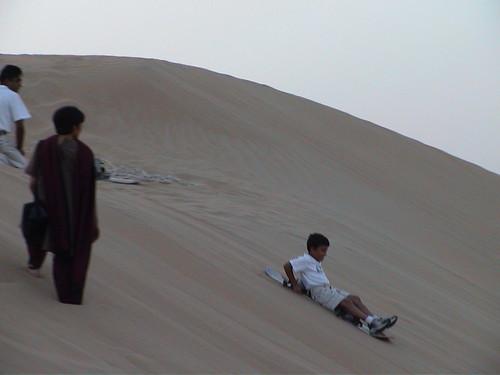 Neeraj Sand Skiing