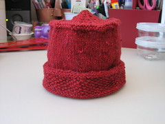 Seed Stitch Brim Childs Hat for Afghans for Afghans