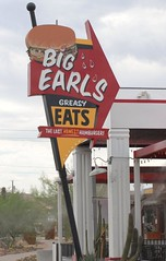 Greasy Eats (ONE/MILLION) Tags: old arizona signs station fun photo big google search interesting flickr place image photos good treats roadtrip images tourists gas eat hamburger drunks earl find greasy cheats bubbaburger onemillion