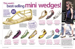 Fashion shoes: mini wedges