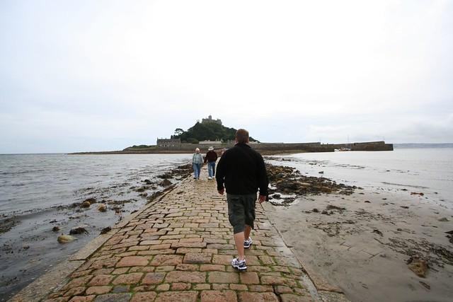walking to st michael's mount