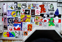 don't test me, they'll arrest me! (Question Josh? - SB/DSK) Tags: nyc streetart dave mono sticker plasmaslugs air stickers atp josh ras hmph foob werd azione uwp snub catv zoltron questionjosh bytedust 14bolt riot68 melvind jshine abandonview