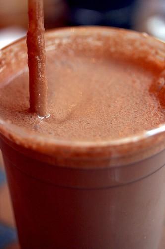 Looking in Frozen Mocha Hot Chocolate