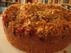 Spiced Plum Streusel Cake with Toffee Glaze (1)